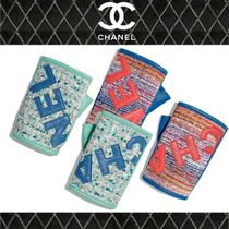 CHANEL Tweed Blended Fabrics Street Style Smartphone Use Gloves