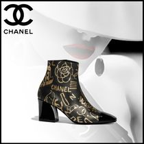 CHANEL Leather Elegant Style Ankle & Booties Boots