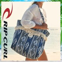 RIP CURL Flower Patterns Tropical Patterns Casual Style A4 Totes