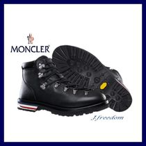 MONCLER Mountain Boots Street Style Plain Leather Outdoor Boots