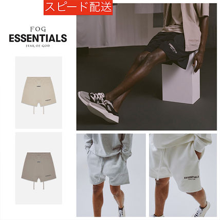 FEAR OF GOD ESSENTIALS Unisex Sweat Street Style Collaboration Logo Shorts