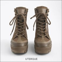 Uterque Platform Mountain Boots Casual Style Leather Outdoor Boots