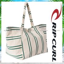 RIP CURL Stripes Casual Style Canvas A4 Totes
