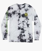 RVCA Crew Neck Pullovers Tie-dye Long Sleeves Cotton