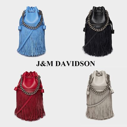 Casual Style 2WAY Leather Purses Fringes Shoulder Bags