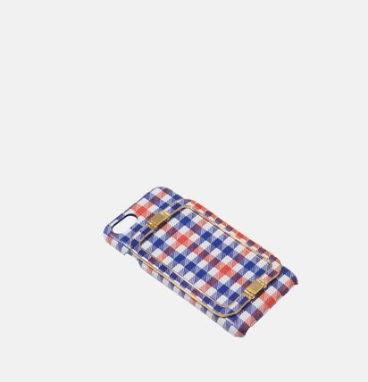 Gingham Other Plaid Patterns Unisex Street Style Leather