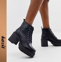 ASOS Casual Style Faux Fur High Heel Boots