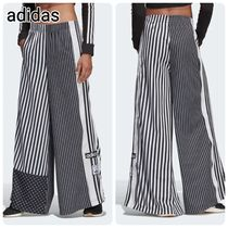 adidas Stripes Casual Style Street Style Long Logo Pants