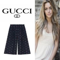 GUCCI Casual Style Cotton Long Culottes & Gaucho Pants