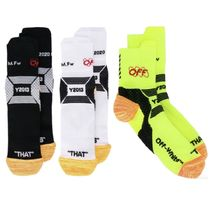 Off-White Stripes Unisex Street Style Undershirts & Socks