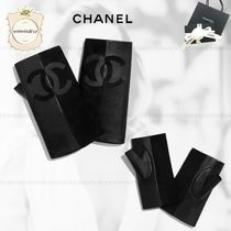CHANEL Suede Blended Fabrics Gloves Gloves