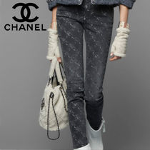 CHANEL Other Check Patterns Denim Long Skinny Jeans