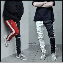 LAKENZIE Tapered Pants Street Style Bi-color Tapered Pants