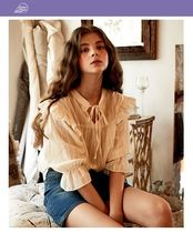 LETTER FROM MOON Casual Style Street Style Shirts & Blouses