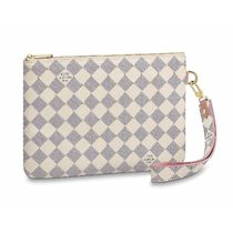 Louis Vuitton DAMIER AZUR Other Check Patterns Canvas Studded 2WAY Clutches