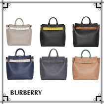 Burberry Unisex Leather Totes
