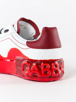 Dolce & Gabbana Casual Style Leather Logo Low-Top Sneakers
