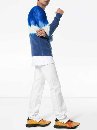 Crew Neck Cashmere Tie-dye Long Sleeves Sweaters