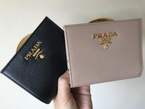 PRADA Saffiano Plain Handmade Folding Wallets