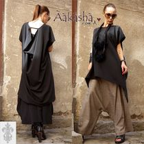 Aakasha Plain Medium Short Sleeves Handmade Oversized Tunics