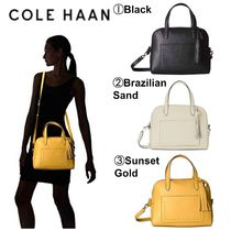 Cole Haan Casual Style Plain Leather Handbags