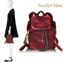 See by Chloe Casual Style Plain Backpacks