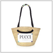 Emilio Pucci Casual Style Street Style 2WAY Plain Totes