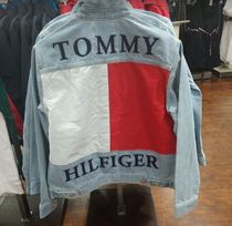 Tommy Hilfiger Casual Style Denim Street Style Plain Medium Jackets