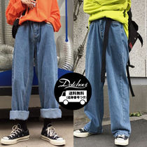 Unisex Denim Street Style Plain Jeans & Denim