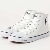 POLO RALPH LAUREN Rubber Sole Casual Style Plain Low-Top Sneakers