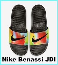 Nike BENASSI Unisex Street Style Tie-dye Shower Shoes Shower Sandals