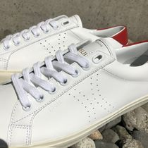 CELINE Triomphe Street Style Plain Leather Low-Top Sneakers