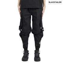 BLACKTAILOR Unisex Street Style Plain Cotton Cargo Pants