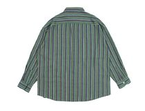ROMANTIC CROWN Shirts Stripes Unisex Street Style Long Sleeves Cotton Oversized 8
