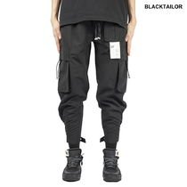 BLACKTAILOR Unisex Nylon Street Style Plain Cargo Pants