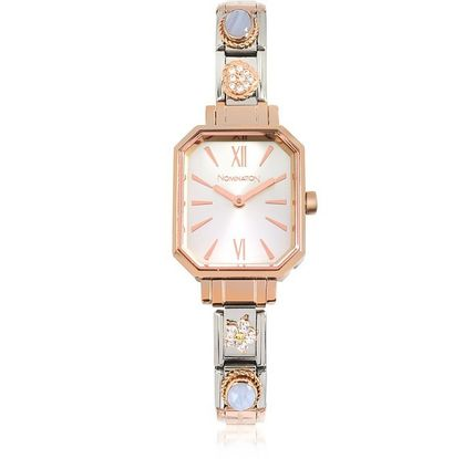 Casual Style Square Quartz Watches Stainless Elegant Style