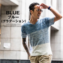 Pullovers V-Neck Plain Cotton Short Sleeves Sweaters