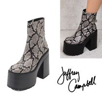 Jeffrey Campbell Platform Blended Fabrics Other Animal Patterns Leather
