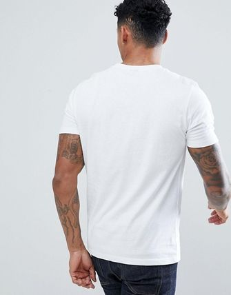 Crew Neck Street Style Plain Cotton Short Sleeves