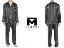 Majestic Stripes Silk Lounge & Sleepwear