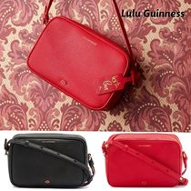 Lulu Guinness Casual Style Plain Leather Shoulder Bags