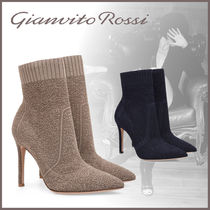 Gianvito Rossi Leather Pin Heels Ankle & Booties Boots