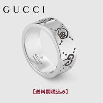 GUCCI Skull Unisex Street Style Silver Rings