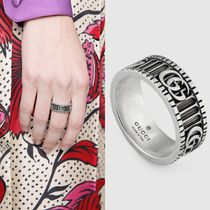 GUCCI Unisex Initial Street Style Silver Rings
