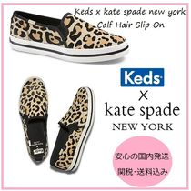 kate spade new york Leopard Patterns Casual Style Spawn Skin Low-Top Sneakers