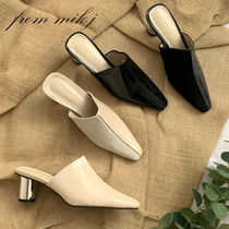 Casual Style Suede Blended Fabrics Street Style Plain