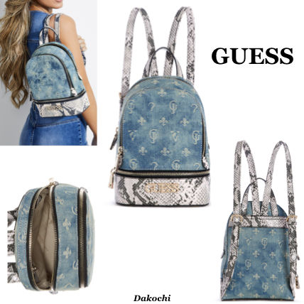 Casual Style Faux Fur Backpacks