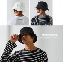 ATTENTIONROW Unisex Street Style Bucket Hats Wide-brimmed Hats