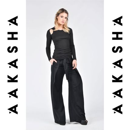 Aakasha Plain Cotton Long Handmade Elegant Style Pants