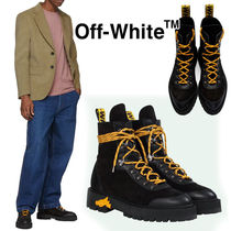 Off-White Plain Toe Mountain Boots Blended Fabrics Street Style Plain